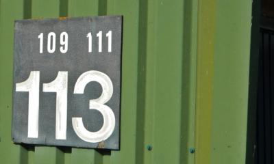 113 House number sign